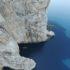 Capo Caccia, versante ovest, e l'ingresso alla Grotta di Nereo - Alghero